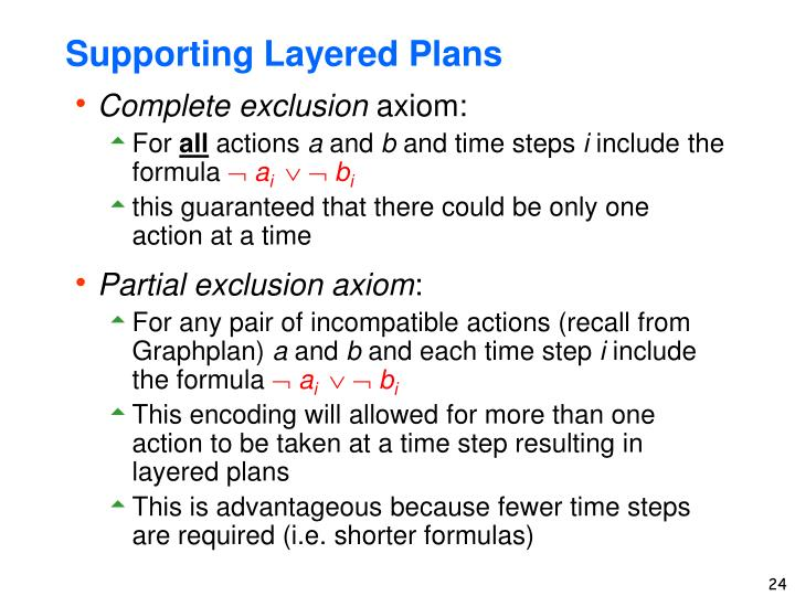 Supporting Layered Plans