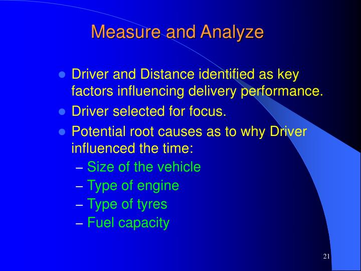 Measure and Analyze