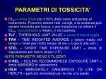 parametri di tossicita