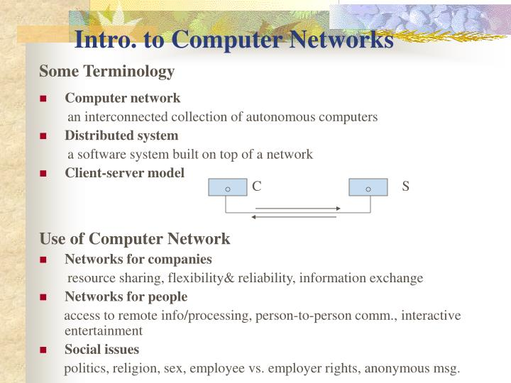 PPT - Intro  to Computer Networks PowerPoint Presentation - ID:4041853