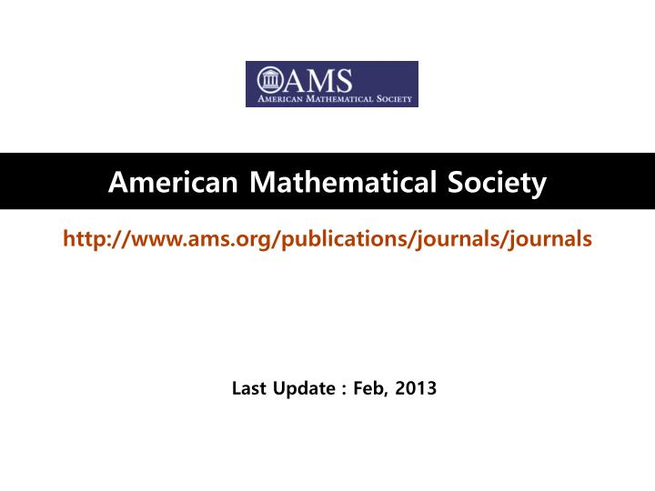 PPT - American Mathematical Society PowerPoint Presentation