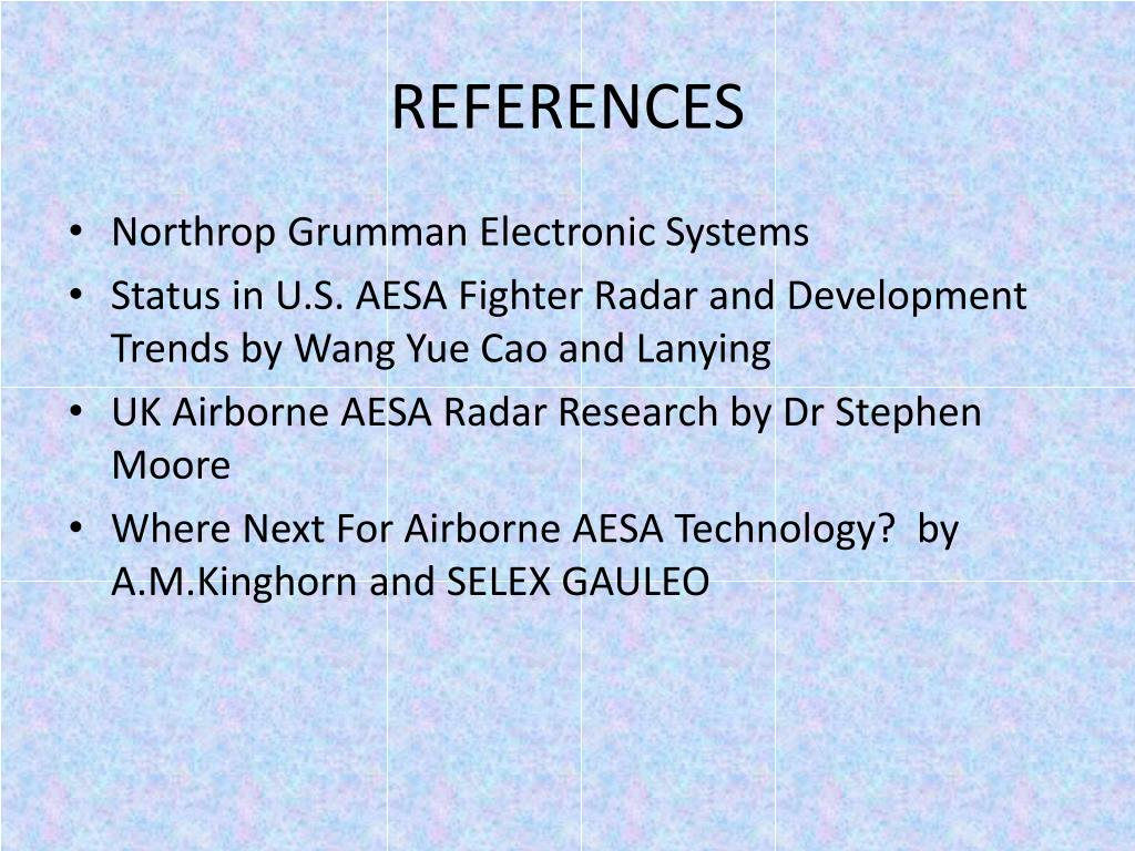 PPT - FUTURE TRENDS OF AIRBORNE AESA RADAR SYSTEMS  PowerPoint