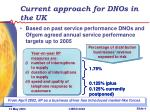current approach for dnos in the uk