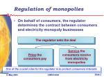 regulation of monopolies