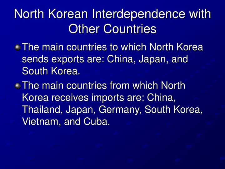 North Korean Interdependence with Other Countries