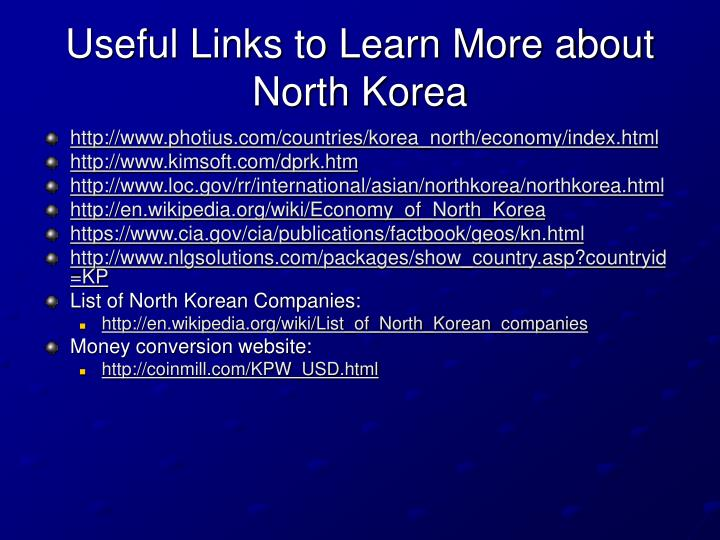 Useful Links to Learn More about North Korea