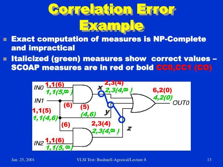 Correlation Error Example
