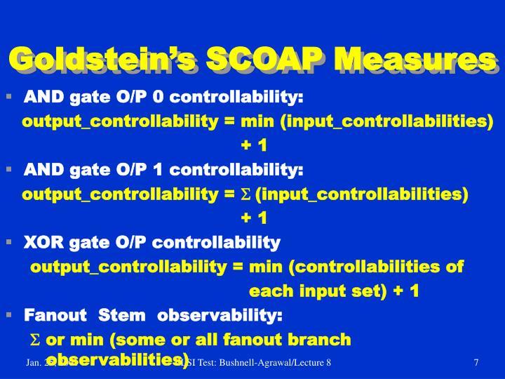 Goldstein's SCOAP Measures