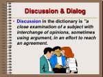 discussion dialog