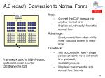 a 3 exact conversion to normal forms