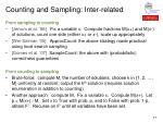 counting and sampling inter related