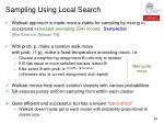 sampling using local search1