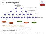 sat search space