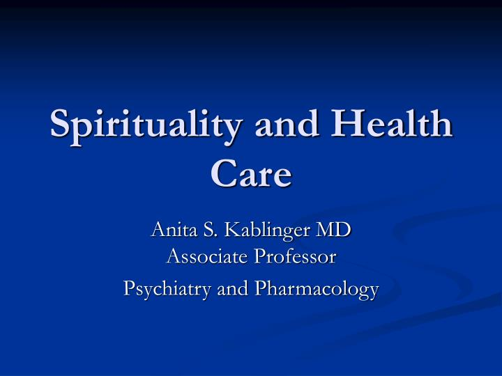 spirituality in health care