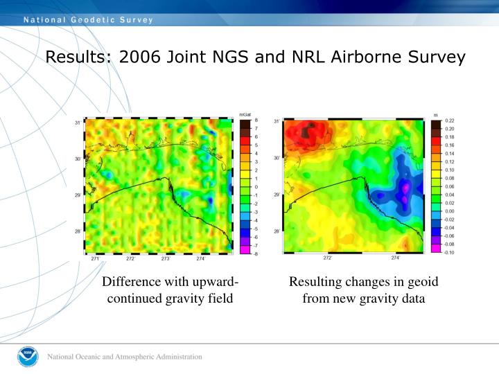 Results: 2006 Joint NGS and NRL Airborne Survey