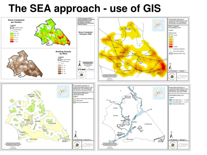 The SEA approach - use of GIS