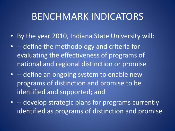 Benchmark indicators