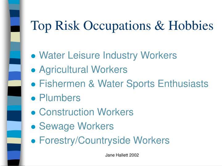 Top Risk Occupations & Hobbies