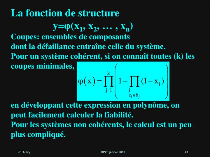 La fonction de structure
