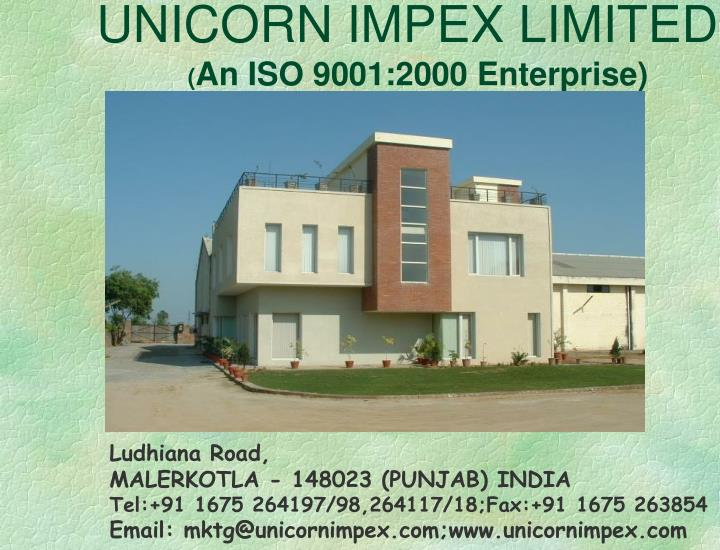 unicorn impex limited an iso 9001 2000 enterprise