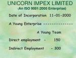 unicorn impex limited an iso 9001 2000 enterprise1
