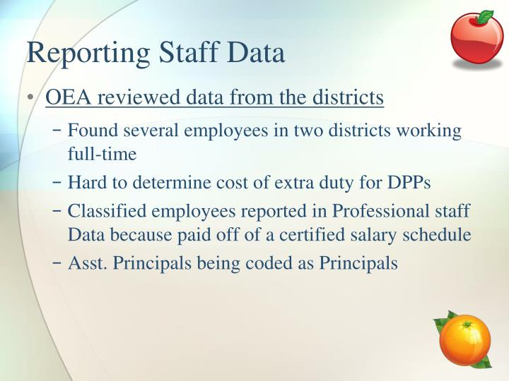 Reporting Staff Data