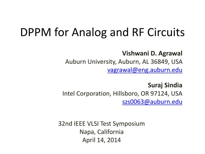 PPT - DPPM for Analog and RF Circuits PowerPoint Presentation - ID