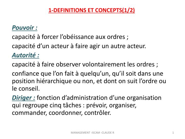1 definitions et concepts 1 2