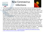 new coronavirus infections
