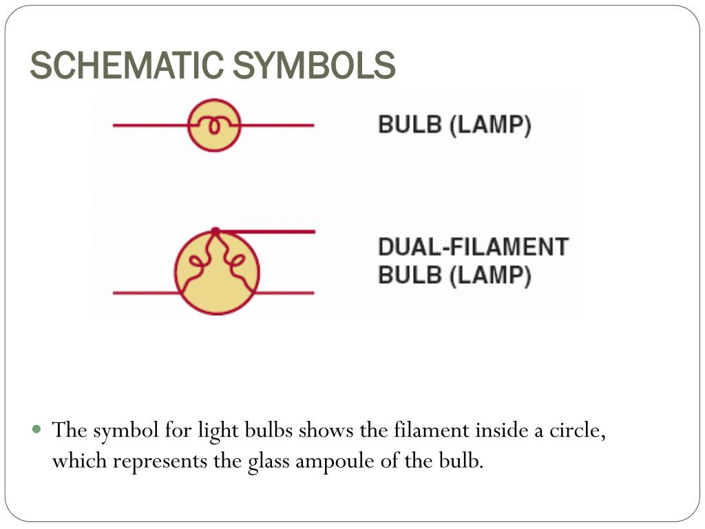 PPT - AUT 242 – Automotive Electricity II PowerPoint ... Schematic Symbol For Lamp on blueprint symbol for lamp, ladder logic symbol for lamp, electrical symbol for lamp,