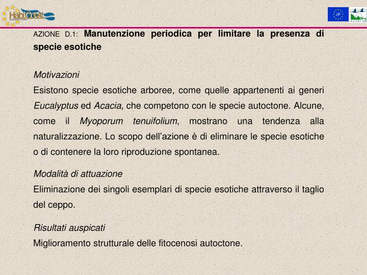 AZIONE D.1: