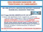 2006 indagini bancarie un trentennio di cambiamenti