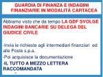 guardia di finanza e indagini finanziarie in modalit cartacea