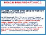 indagini bancarie art 155 c c