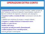 operazioni extra conto1
