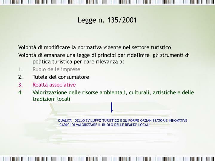 Legge n. 135/2001
