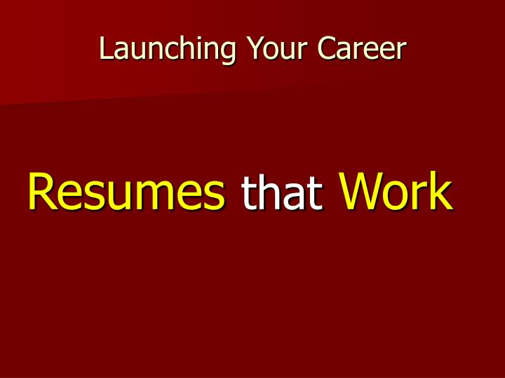 launching your career n.