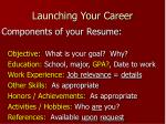 launching your career10