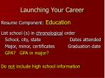 launching your career13