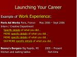 launching your career16