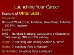 launching your career18