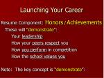 launching your career19