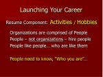 launching your career21