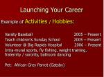 launching your career22