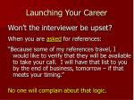 launching your career26