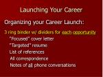 launching your career28