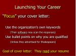 launching your career7