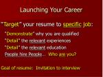 launching your career8