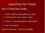launching your career9