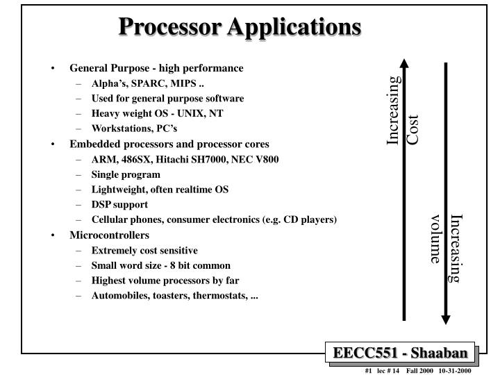 PPT - Processor Applications PowerPoint Presentation - ID
